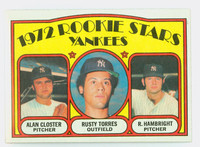 1972 Topps Baseball 124 Yankees Rookies Near-Mint