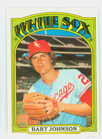 1972 Topps Baseball 126 Bart Johnson Chicago White Sox Near-Mint