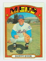 1972 Topps Baseball 127 Duffy Dyer New York Mets Near-Mint