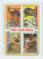 1974 Topps Baseball 2 Hank Aaron 1954-1957 Excellent to Mint