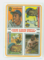 1974 Topps Baseball 2 Hank Aaron 1954-1957 Near-Mint