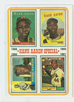 1974 Topps Baseball 3 Hank Aaron 1958-1961 Excellent to Mint
