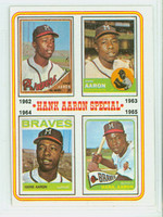 1974 Topps Baseball 4 Hank Aaron 1962-1965 Very Good to Excellent