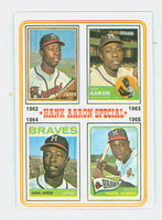 1974 Topps Baseball 4 Hank Aaron 1962-1965 Excellent to Excellent Plus