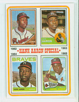 1974 Topps Baseball 4 Hank Aaron 1962-1965 Excellent to Mint