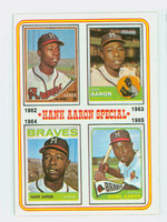 1974 Topps Baseball 4 Hank Aaron 1962-1965 Near-Mint