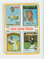 1974 Topps Baseball 6 Hank Aaron 1970-1973 Excellent to Excellent Plus