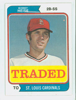 1974 Topps Baseball 51 T Bobby Heise TRADED St. Louis Cardinals Near-Mint