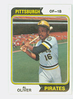 1974 Topps Baseball 52 Al Oliver Pittsburgh Pirates Near-Mint Plus