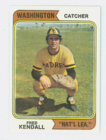 1974 Topps Baseball 53 Fred Kendall WASHINGTON   Natl League Excellent to Mint