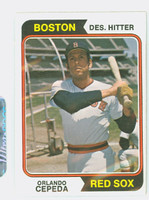 1974 Topps Baseball 83 Orlando Cepeda Boston Red Sox Excellent to Mint