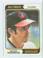 1974 Topps Baseball 160 Brooks Robinson Baltimore Orioles Excellent