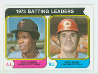 1974 Topps Baseball 201 Batting Leaders Excellent to Mint