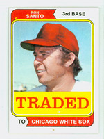 1974 Topps Baseball 270 T Ron Santo TRADED Chicago White Sox Excellent to Mint