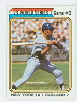 1974 Topps Baseball 473 World Series 2 Excellent to Mint
