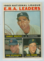 1964 Topps Baseball 1 NL ERA Leaders Excellent to Mint