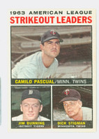 1964 Topps Baseball 6 AL Strikeout Leaders Very Good to Excellent