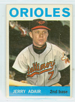 1964 Topps Baseball 22 Jerry Adair Baltimore Orioles Excellent