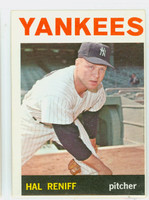1964 Topps Baseball 36 Hal Reniff New York Yankees Excellent