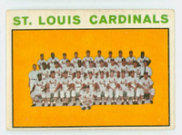 1964 Topps Baseball 87 Cardinals Team Very Good