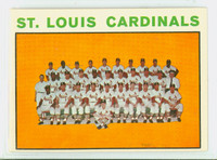 1964 Topps Baseball 87 Cardinals Team Excellent