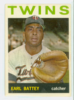 1964 Topps Baseball 90 Earl Battey Minnesota Twins Excellent
