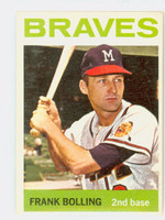 1964 Topps Baseball 115 Frank Bolling Milwaukee Braves Excellent