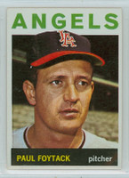 1964 Topps Baseball 149 Paul Foytack California Angels Near-Mint
