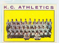 1964 Topps Baseball 151 A's Team Kansas City Athletics Excellent