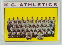1964 Topps Baseball 151 A's Team Kansas City Athletics Near-Mint
