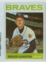 1964 Topps Baseball 152 Denny Lemaster Milwaukee Braves Near-Mint