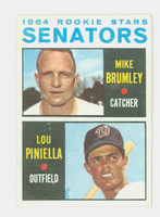 1964 Topps Baseball 167 Senators Rookies Very Good to Excellent
