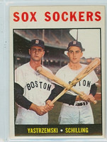 1964 Topps Baseball 182 Sox Sockers Boston Red Sox Excellent to Mint