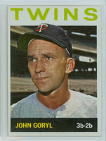 1964 Topps Baseball 194 John Goryl Minnesota Twins Near-Mint