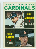 1964 Topps Baseball 262 Cardinals Rookies Very Good to Excellent