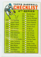 1964 Topps Baseball 274 Checklist Four Excellent