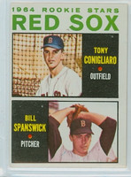 1964 Topps Baseball 287 Red Sox Rookies Excellent
