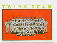 1964 Topps Baseball 318 Twins Team Excellent