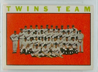 1964 Topps Baseball 318 Twins Team Excellent to Mint