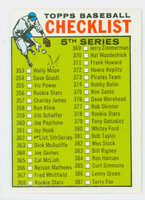 1964 Topps Baseball 362 Checklist Five Excellent