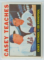 1964 Topps Baseball 393 Casey Teaches New York Mets Excellent to Excellent Plus