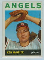 1964 Topps Baseball 405 Ken McBride California Angels Excellent to Mint