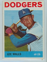 1964 Topps Baseball 411 Lee Walls Los Angeles Dodgers Excellent to Mint