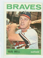 1964 Topps Baseball 534 Gus Bell High Number Milwaukee Braves Excellent to Mint