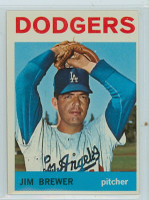1964 Topps Baseball 553 Jim Brewer High Number Los Angeles Dodgers Excellent
