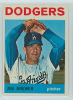 1964 Topps Baseball 553 Jim Brewer High Number Los Angeles Dodgers Excellent to Mint
