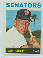 1964 Topps Baseball 559 Dick Phillips High Number Washington Senators Excellent to Mint