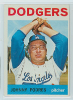 1964 Topps Baseball 580 Johnny Podres High Number Los Angeles Dodgers Excellent to Excellent Plus