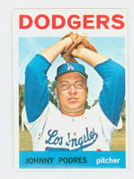 1964 Topps Baseball 580 Johnny Podres High Number Los Angeles Dodgers Excellent to Mint