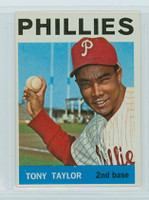 1964 Topps Baseball 585 Tony Taylor High Number Philadelphia Phillies Excellent to Mint